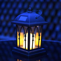 Solar Power Waterproof LED Candle Light Outdoor Garden Lawn Hanging Lantern Lamp CLH@8