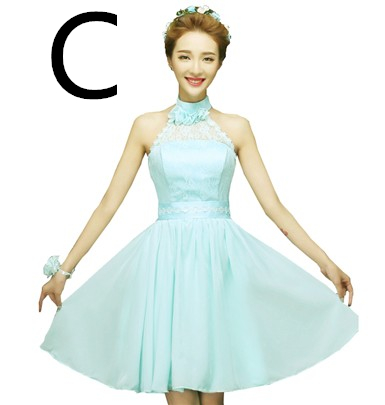 1b3dace7e3 lace top short light blue mint bridesmaid dress china brides maid party  chiffon dresses 2019 for wedding guest under $50 H4238