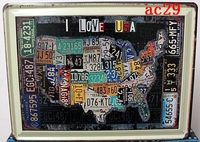Multi Type! 30*40cm, 15 Pieces Large I LOVE USA MAP Tin Sign Bar Pub Home Wall Decoration Retro Metal Art Poster Free Shipping