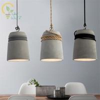 Nordic Cement Pendant Lights Modern Lustre Pendente Creative Loft Style Art Pendant Lamps Industrial Decor Luminaire Suspendu