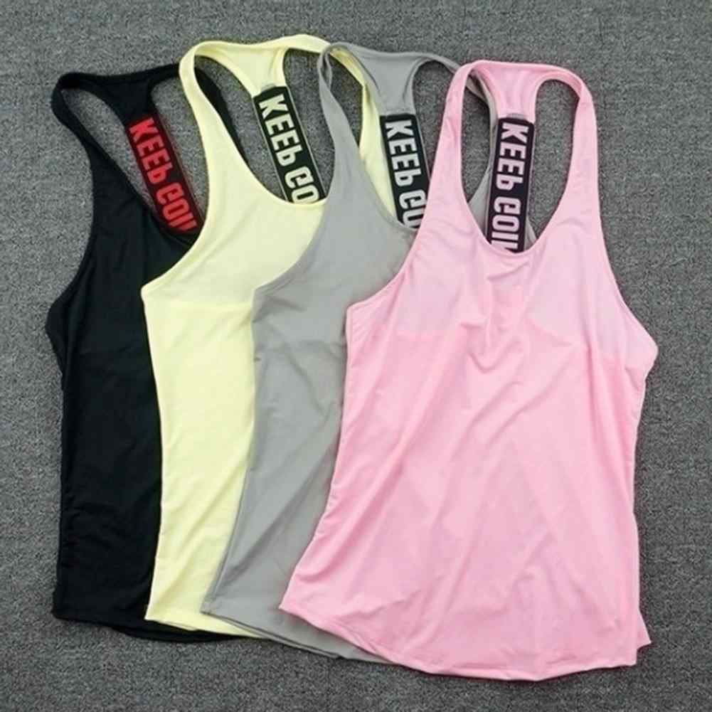 Mujeres Yoga Top chaleco deportivo gimnasio camisetas sin mangas Tank Tops deporte Top Fitness mujeres Running ropa Singlets