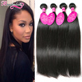 Malaysian Virgin Hair Straight 4 Bundles Malaysian Straight Hair Weave 7A Virgin Hair Bundle Deals Straight Human Hair Bundles