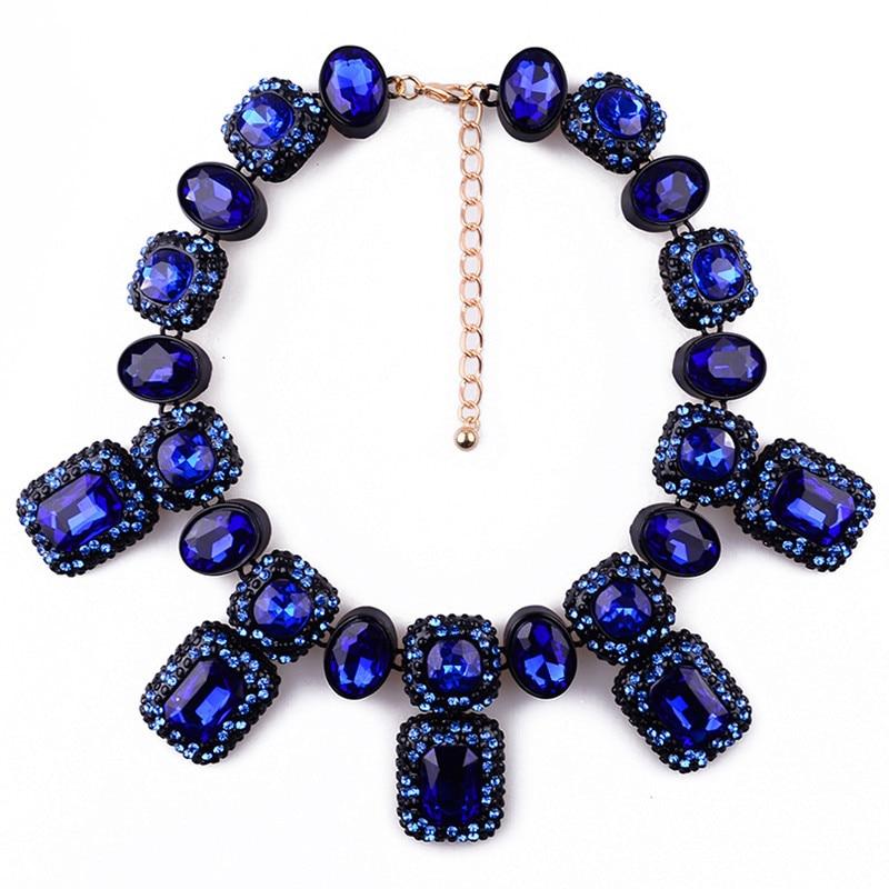 Prix pour 2017 nouvelle mode xg079 déclaration bijoux noir cristal perles colliers et pendentifs femmes de charme choker collier accessoires