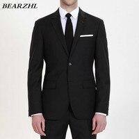 mens wedding suit for groom suits slim fit black tuxedo for men high quality tailor suit wear 2018