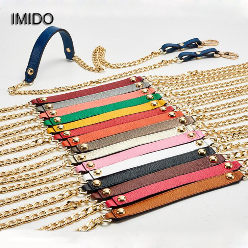 df2bb2039d35 IMIDO Genuine Leather bag Strap Women replacement straps shoulder belt  handbags accessories parts Gold Chain White Green STP024 Tags