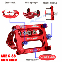 GUB G-86 Universal Bike Phone Stand Aluminum Bicycle Handlebar Mount Holder For iPhone 7/8 Samsung Huawei Cycling Accessories