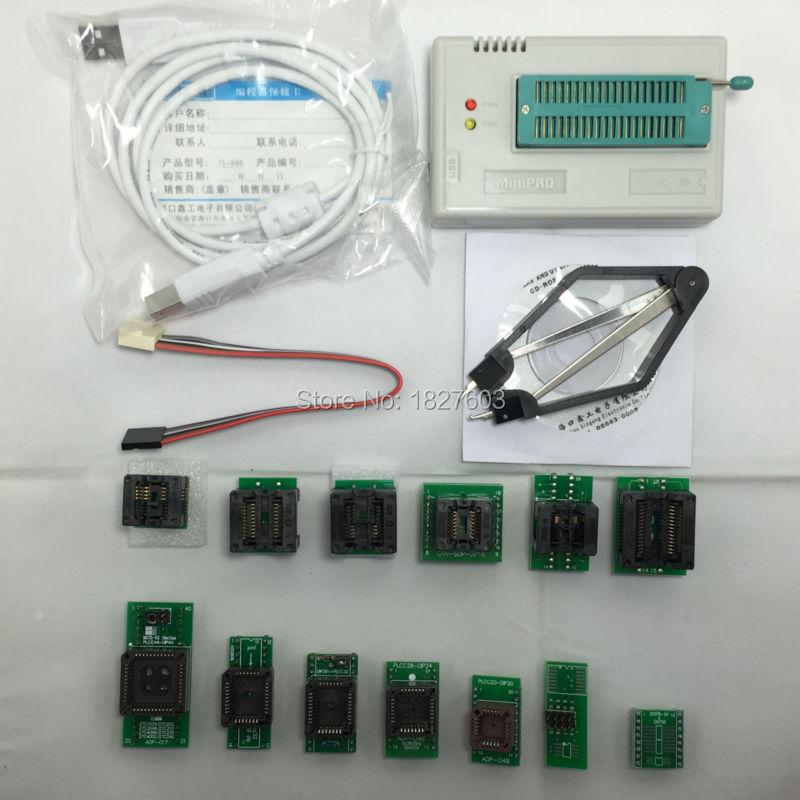 Xgecu 100% оригинал. TL866a TL866A Универсальный MiniPro программист ICSP Поддержка Flash \ EEPROM \ MCU СОП \ PLCC \ TSOP + 13 Адаптеры TL866