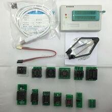 100% оригинал. TL866A скоростной Универсальный MiniPro программист Поддержка ICSP Поддержка Flash  EEPROM  MCU СОП  PLCC  TSOP + 13 Адаптеры