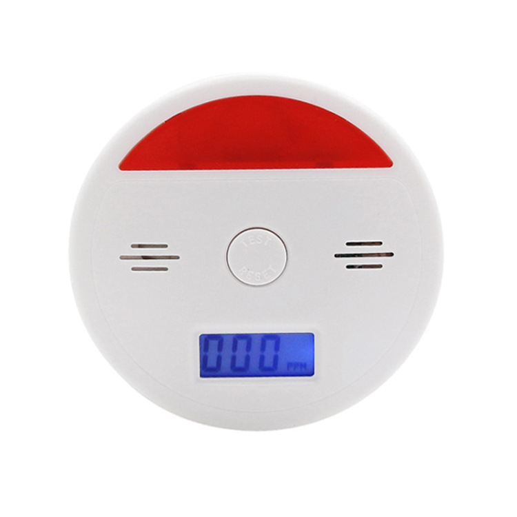 10PCS Home Security 85dB Warning LCD Photoelectric Independent CO Gas Sensor Carbon Monoxide Poisoning Alarm Detector