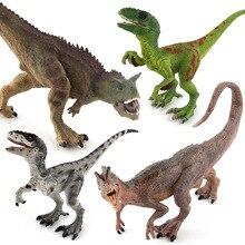 цена на Classic Jurassic World Velociraptor&Carnotaurus&Dilophosaurus PVC Action Figure Model Toy Dinosaur World Display Juguetes Gift