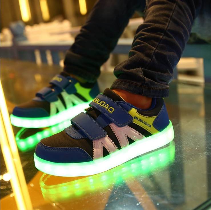 7 Colors new led lights shoes children luminous LED sneakers kids leisure sports shoes hight quality wholedsale