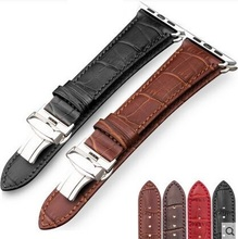 Genuine Leather Wrist Band For Apple Watch 38mm 42mm Sport Buckle Link Bracelet Modern Classic Strap Adapter Wristband Connector