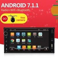 2 Din Android 7.1 Car DVD GPS For Toyota Hilux Yaris Vios Camry Corolla Rav4 Prado 2003 2004 2005 2006 2007 2008 1G RAM