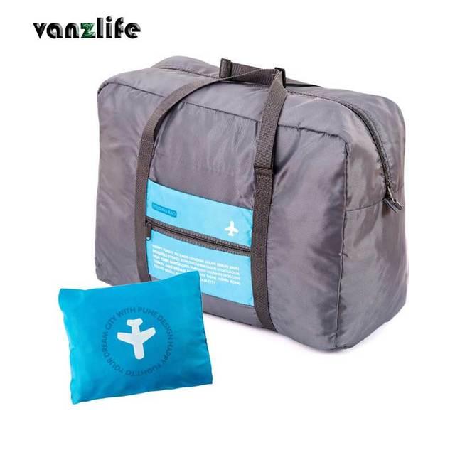 Vanzlife חינם גדול קיבולת נייד עמיד למים ניילון מזוודה לוויה פאוץ מתקפל חבילת הודאת נסיעות תיק
