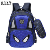 Orthopedic Cartoon Schoolbags Spider Man Boy Backpack Waterproof Nylon Kids School Bag Fashion Cute Backpack High