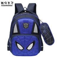 Orthopedic Cartoon Schoolbags Spider Man Boy Backpack Waterproof Nylon Kids School Bag Fashion Cute Backpack High
