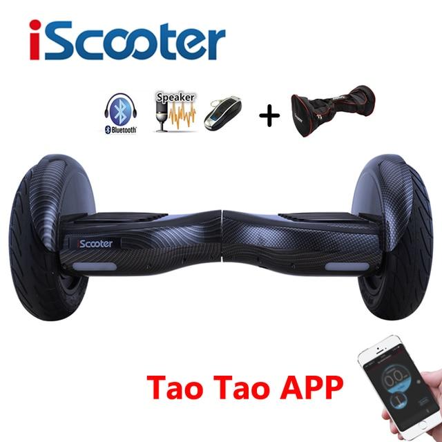 Iscooter 10 дюймов ХОВЕРБОРДА Bluetooth Speaker Электрический giroskuter gyroscooter за бортом гироскопа скутер Hover доска два колеса