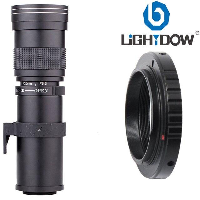 Lightdow 420-800mm F/8.3-16 Super Telephoto Lens Manual Zoom Lens for Canon Nikon Sony Pentax DSLR Camera 4