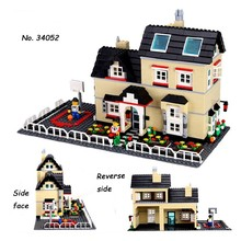 2016 New wange DIY 34052 villa Building Blocks Girls minifigures Christmas toys Gift Toys & Educational Compatible with legoe