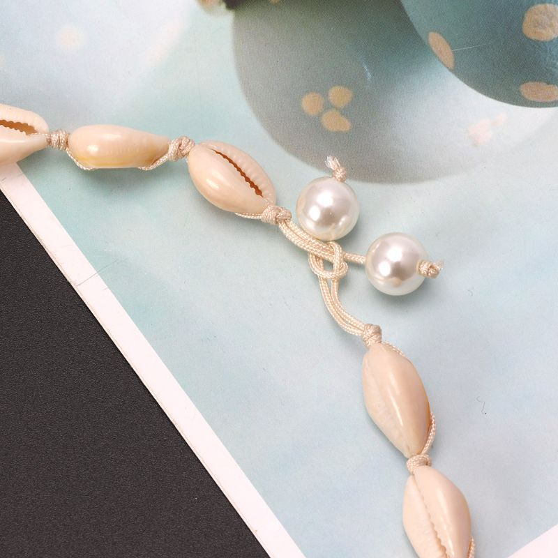 Natural Seashell Pearl Choker Necklace White Rope Summer Hawaii Beach Jewelry in Choker Necklaces from Jewelry Accessories