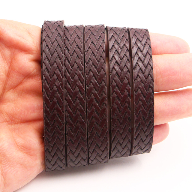 XCHARMS 10MM Flat PU Leather Cord Braid Rope Diy Jewelry Findings Accessories Fashion Jewelry Making Materials for Bracelets 5