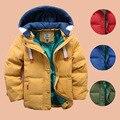 Детей мальчиков Куртка пальто Хлопка С Капюшоном Пальто Дети Куртка Утка Вниз Пальто Для Snowsuit Малышей Верхняя Одежда Пальто