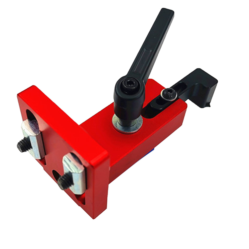 Fixed T Slot Miter Track Stop Locator Sliding Brackets Woodworking Rail Retainer Chute Backing Connector For 45 T-track