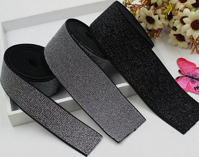 Free shipping Knitting Latex Elastic Tape /Elastic Stretch Webbing Garment Sewing Accessories  for wholesale and retail