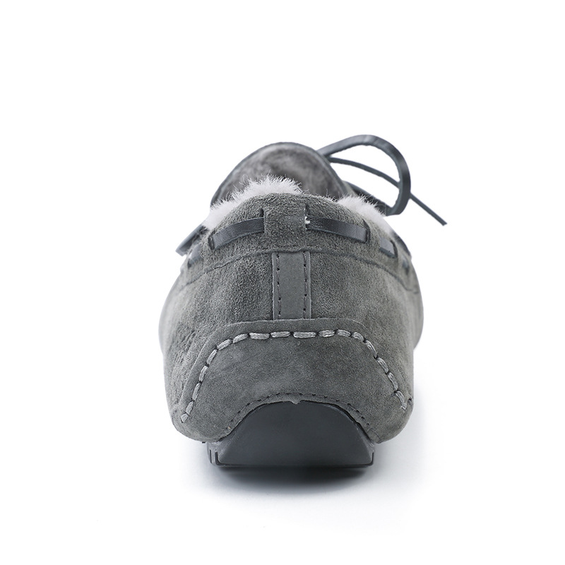 Hiver Fourrure bleu Cuir gris coffee En Créateur Chaussures Hommes Véritable Chaud 100De Noir Slip Pour Italien Mocassins kaki Sur Réel eCWrodQxBE