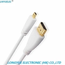 LNYUELEC Micro HDMI to Cable, High-Speed HDTV Cable Supports Ethernet, 3D, 4K and Audio Return