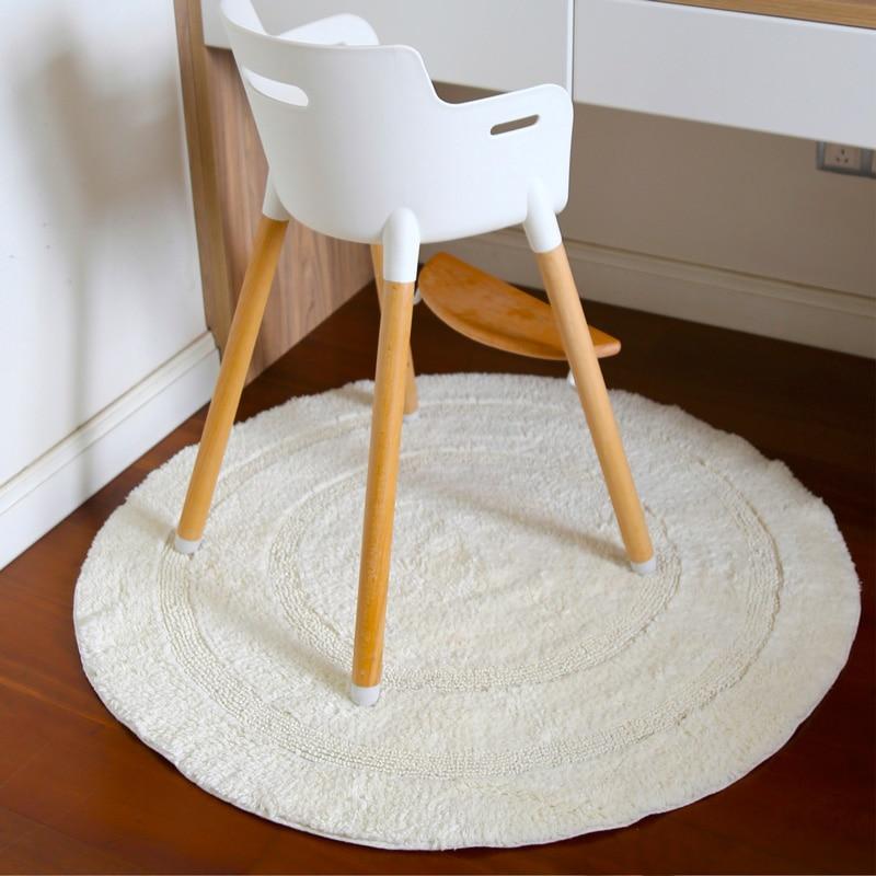 Nordic Stil Runde Umwelt Baumwolle Teppich Für Kinderzimmer Wohnzimmer Schlafzimmer Studie Zimmer Ring Stuhl Matte kinder spielen Teppich - 3