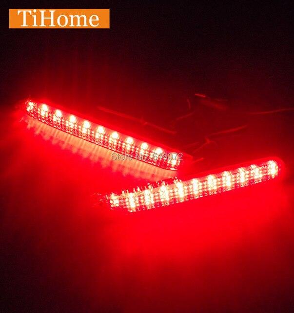 Venda quente!!! free envio led bumper refletor luz traseira modificada carro cauda luz de freio para toyota camry 2006-2009