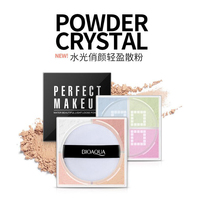 2 Colors Smooth Loose Powder Makeup Transparent Finishing Powder Waterproof Cosmetic Puff For Face Finish Setting With Puff Skin Care