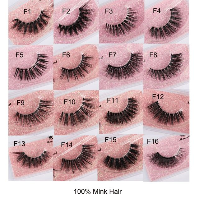 d8f4d53a185 1Pair False Eyelashes Natural Makeup 3D Mink Lashes Extension Make Up Real Siberian  Mink Strip Eyelashes
