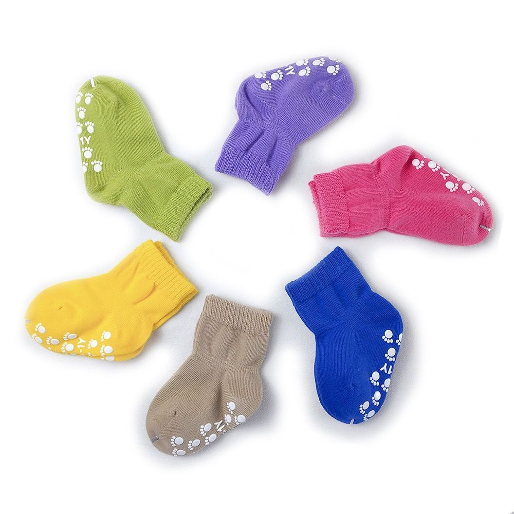 Candy Color Cotton Baby Socks Anti Slip Rubber Sole Socks Autumn Spring Girls Boys Kids Warm Floor Socks for 0-5 years old 2