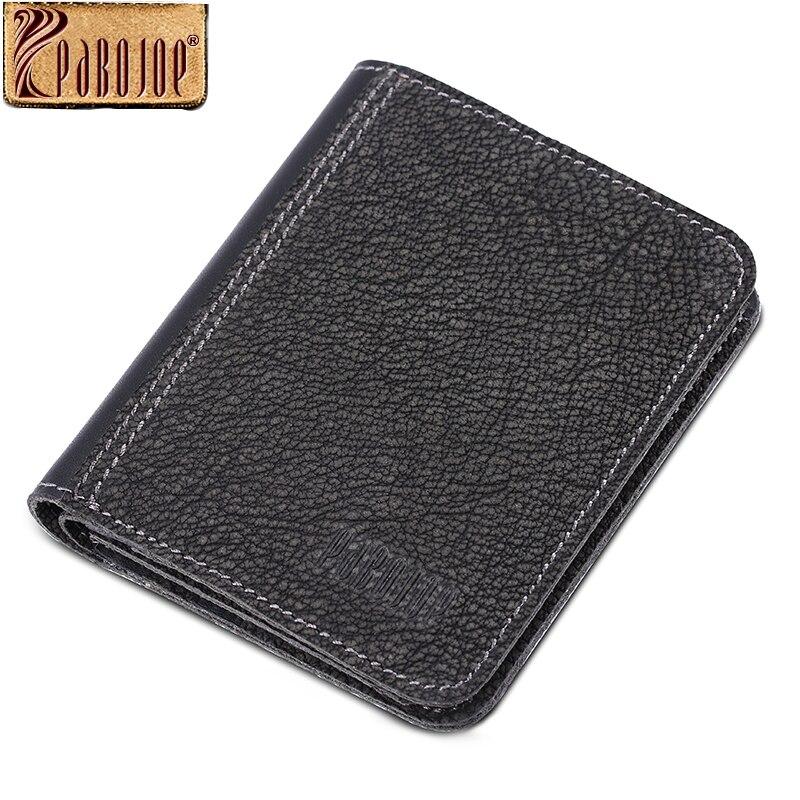 ФОТО Pabojoe Mens Bifold Wallet Italian 100% Genuine Leather Soft Credit ID Cards Money Clip Holder Black