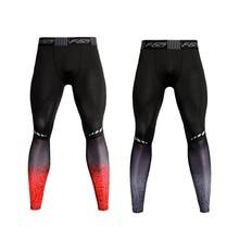 Спортивные штаны, мужские спортивные штаны, повседневные Колготки, эластичные быстросохнущие тянущиеся штаны для похудения, фитнеса, тренировок, обтягивающие спортивные штаны