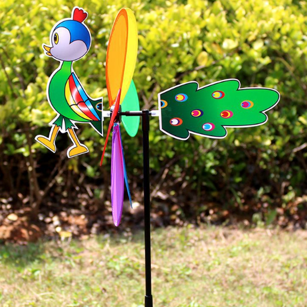 Ветряная мельница ветряная вертушка цвет случайный пластиковый наружный Декор насекомых 3D садовый ярд вихревая игрушка на лужайке