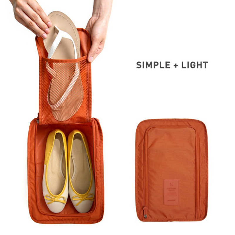Shoe Bag Waterproof Shoes Bag Pouch Storage Home Storage Bag Portable Travel Shoes Organizer Sorting Pouch Zip Lock Colorful Nylon 5