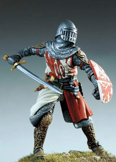 Assembly  Unpainted  Scale 1/32 54mm Florentine Knight 1280 Office 54mm   Figure Historical  Resin Model