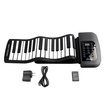 цена на Digital Rechargeable Electronic organ 61Keys 128 Tones Fold Profession Portable Electronic organ Electronic Roll Up Piano