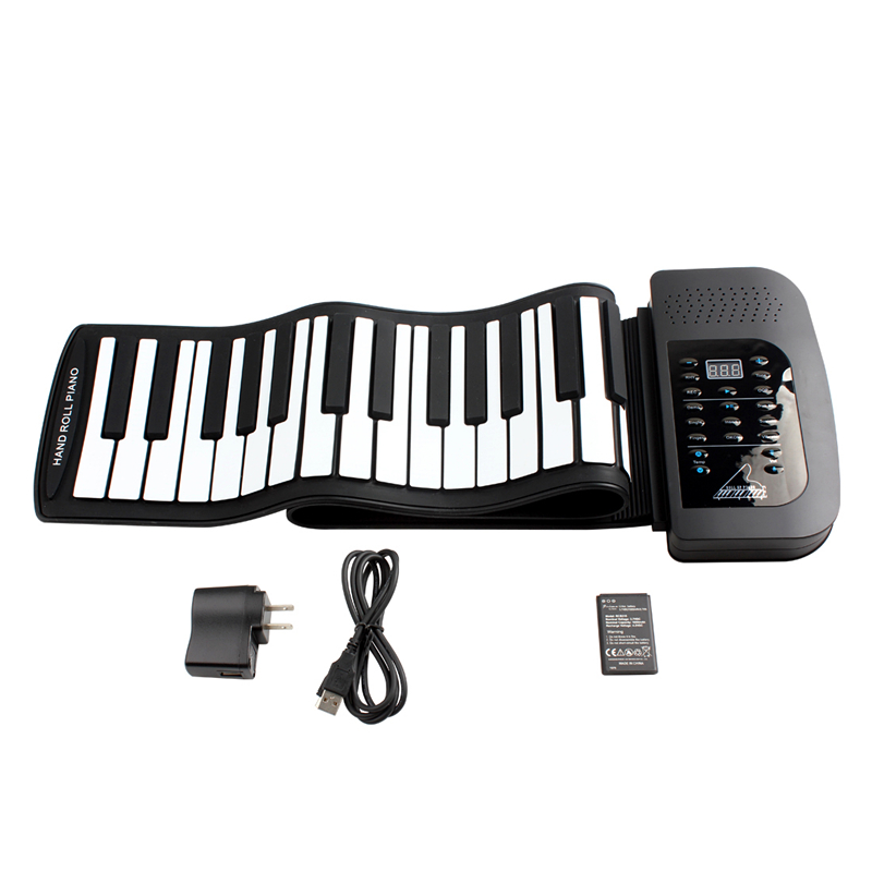 цена на Digital Rechargeable Electronic organ 61Keys 128 Tones Fold profession Electronic organ Electronic Roll Up Piano