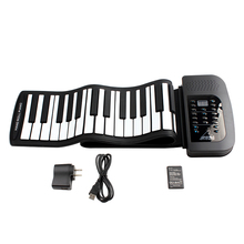 KONIX Waterproof Digital Rechargeable 61Keys 128 Tones Flexible Electronic Roll Up Piano with Built-in Speaker for Children