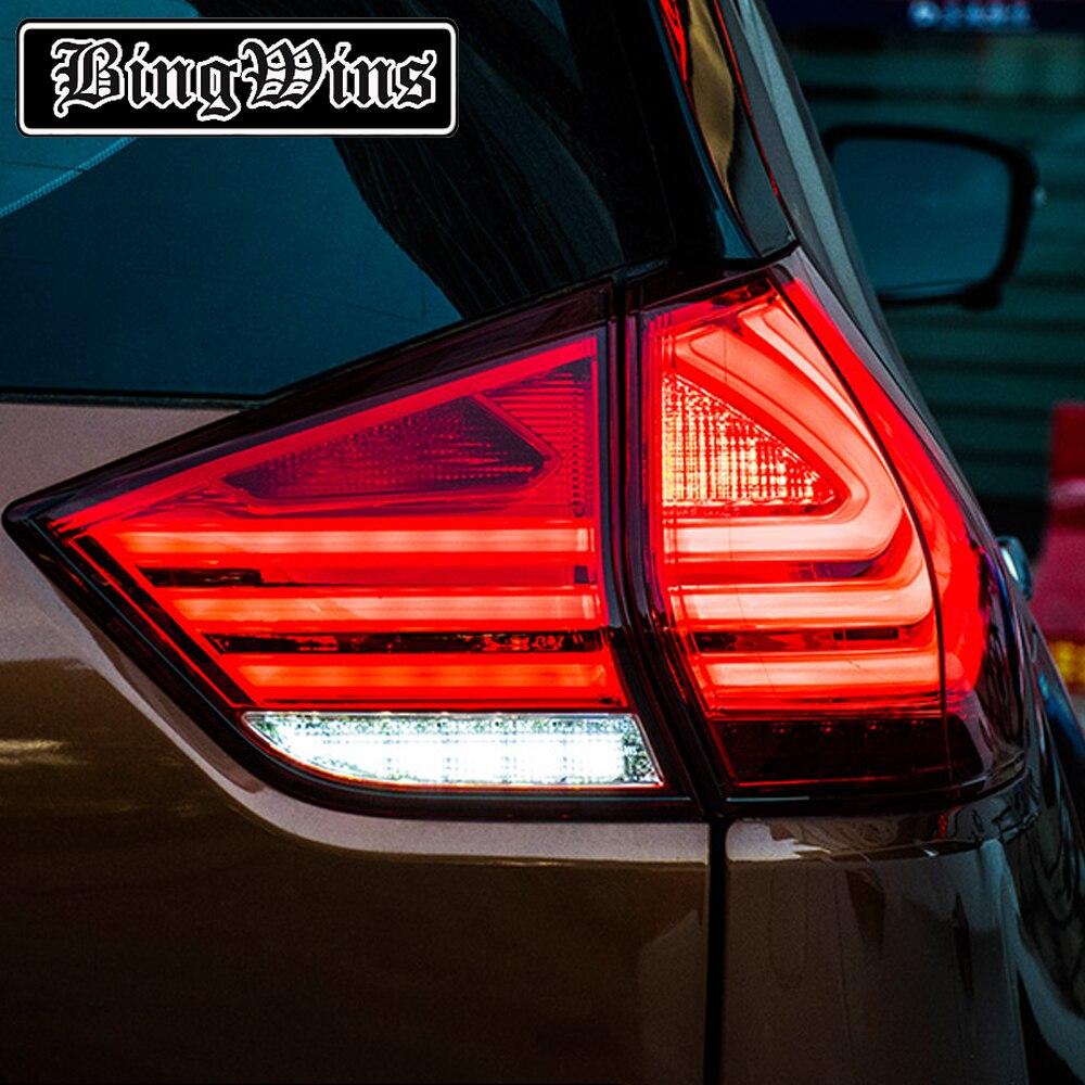 Автомобиль Стайлинг для Nissan X TRAIL 2012 2015 XTRAIL задние фонари светодиодный фонарь светодиодный задние лампы ДРЛ + тормоз + Реверсивный + сигнал