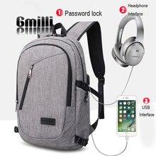 Купить с кэшбэком Anti-theft USB Charging Casual Unisex Rucksack 15inch Laptop Backpack Outdoor Business Travel Bags Satchel
