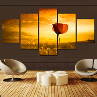 5Pcs Modern Flower Scenery Home Decor Canvas Wall Art Painting Wall Picture Canvas Art Print From Photo On Canvas For The House