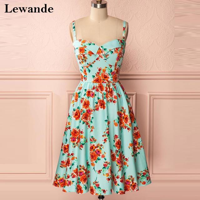 ec8f7520b01 Lewande Sweetheart Spaghetti Strap Short Homecoming Floral Print Dress for  Bridesmaid Sweet 16 A Line Cute Quinceanera Gown