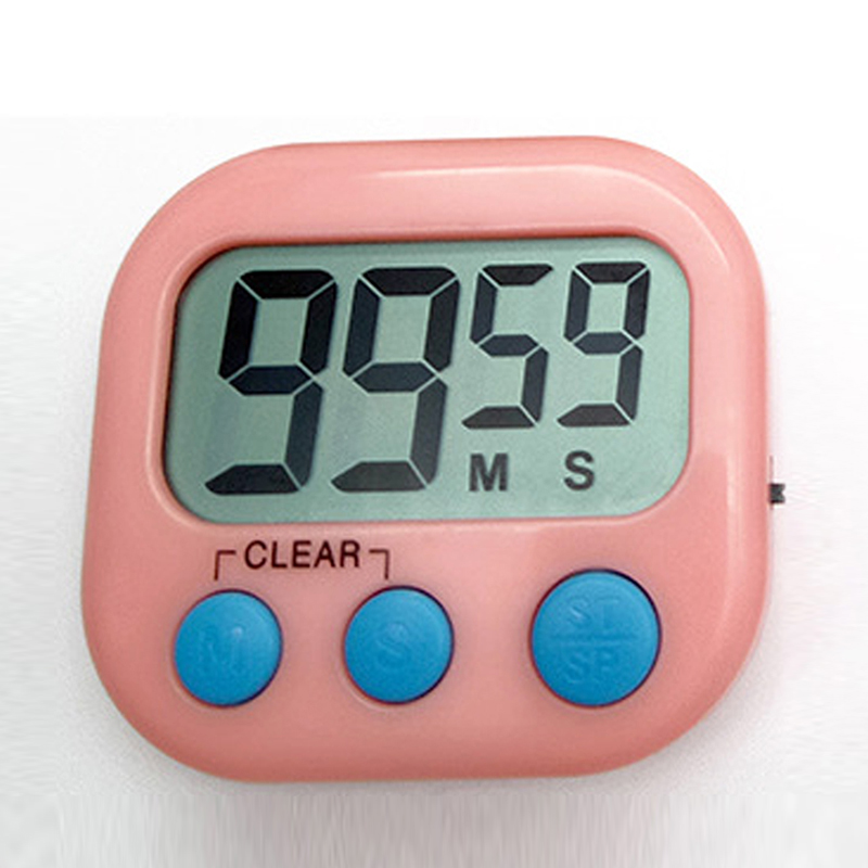 Large LCD Display Digital Kitchen Timer Count Down Up Clock Loud Alarm Blue