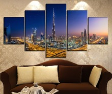 Modern Decorative Landscape Painting Home Decor Picture Wall Art Canvas Urban HD Printed Paintings Artwork