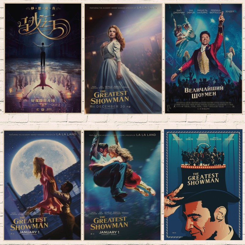 The Greatest Showman Poster Wall Art Retro Kraft Paper